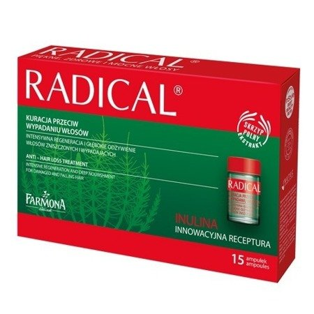 Radical - kuracja przeciw wypadaniu włosów, 15 ampułek.