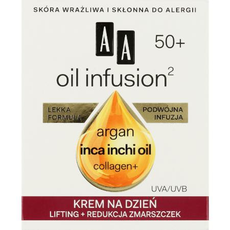AA - Oil Infusion2 50+ - KREM modelowanie konturu i odbudowa na NOC, 50 ml.