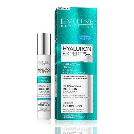 Eveline Hyaluron Expert Liftingujący ROLL-ON pod oczy, 15 ml.
