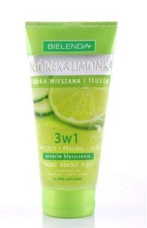Ogórek&Limonka - ŻEL myjący+PEELING+SERUM 3w1 matujące przeciw błyszczeniu do skóry mieszanej i tłustej, 150 ml.