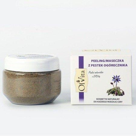 Peeling/Maseczka z nasion OGÓRECZNIKA, 100 g. Olvita
