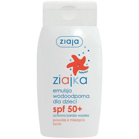 Ziajka, EMULSJA wodoodporna dla dzieci, SPF 50+, od 6 miesiąca życia, 125 ml.