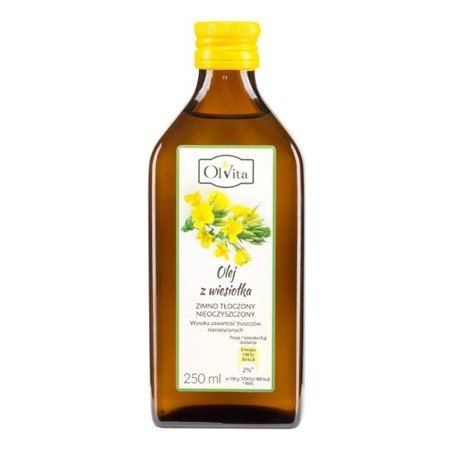 Evening primrose oil, cold pressed, 250 ml. Olvita