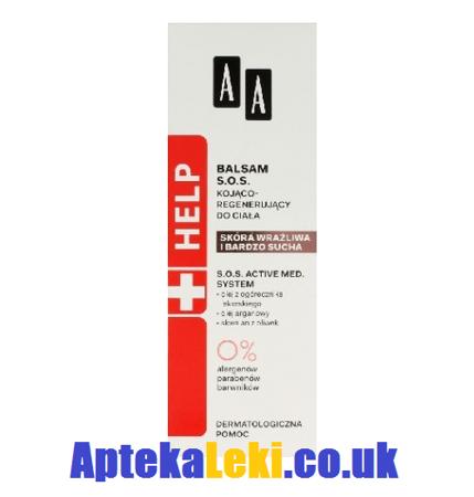 AA Help Balsam S.O.S. Kojąco-Regenerujący do ciała, 300 ml.