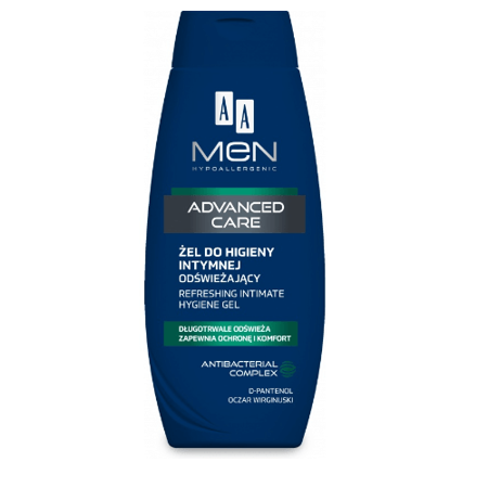AA MEN Advanced Care, odświeżający żel do higieny intymnej dla mężczyzn, 250 ml.