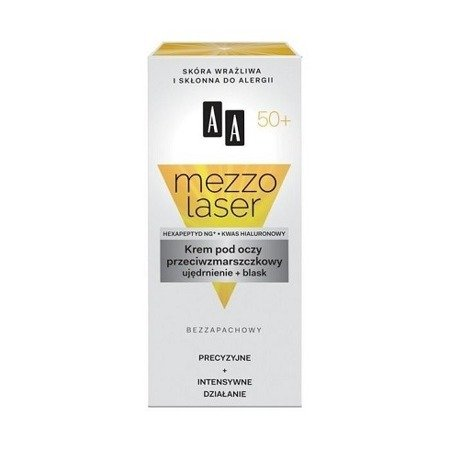 AA - Mezzolaser 50+ - KREM przeciwzmarszczkowy pod oczy, 15 ml.