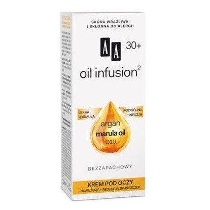 AA - Oil Infusion2 30+ - KREM nawilżający i redukujący zmarszczki pod oczy, 15 ml.