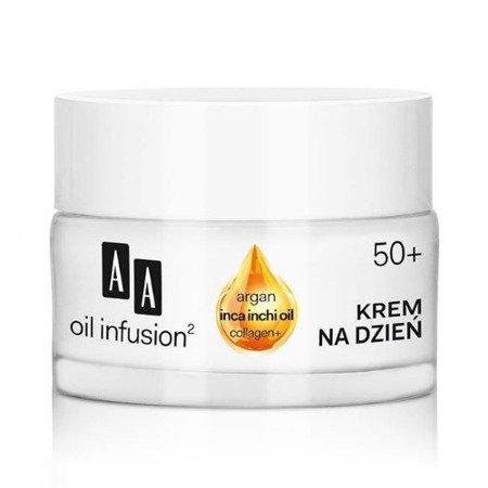 AA - Oil Infusion2 50+ - KREM liftingujący i redukujący zmarszczki na DZIEŃ, 50 ml.