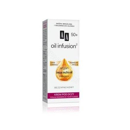 AA - Oil Infusion2 50+ - KREM pod oczy totalna regeneracja i elastyczność, 15 ml.
