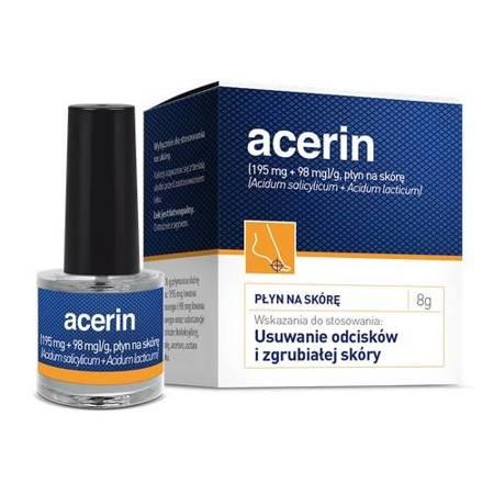 ACERIN - płyn do usuwania odcisków i zgrubiałej skóry 8 g.