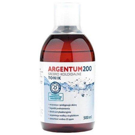 Argentum 200 - SREBRO Koloidalne Ag-250 (25 ppm), 500 ml. TONIK