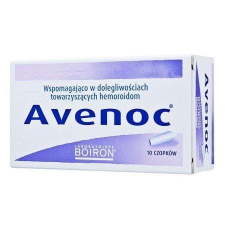 Avenoc - CZOPKI doodbytnicze przeciw hemoroidom, 10 czopków. (Boiron)