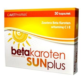 Beta karoten SUN plus, 30 kapsułek.