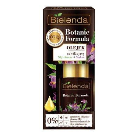 Bielenda Botanic Formula, Olej z Konopi+Szafran, OLEJEK nawilżający, 15 ml.