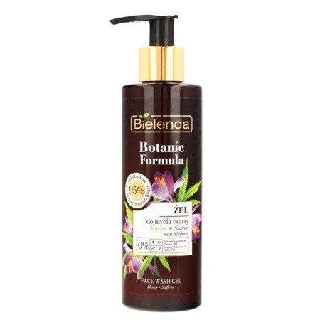 Bielenda Botanic Formula, Olej z Konopi+Szafran, ŻEL do mycia twarzy, 200 ml.