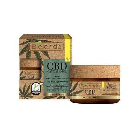 Bielenda CBD Cannabidiol, KREM Nawilżająco-Detoksykujący,  na DZIEŃ i NOC, 50 ml