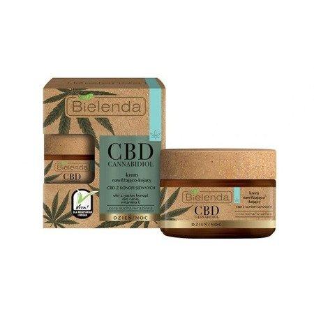 Bielenda CBD Cannabidiol, KREM Nawilżająco-Kojący,  na DZIEŃ i NOC, 50 ml