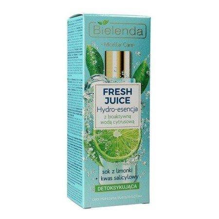 Bielenda Fresh Juice, ESENCJA detoksykująca, limonkowa, 110 ml.