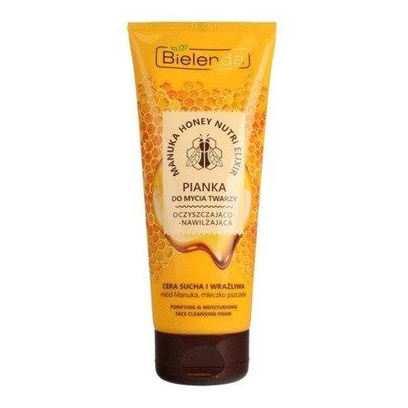 Bielenda Manuka Honey, PIANKA do mycia twarzy, 175 g.