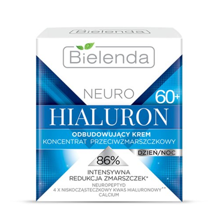 Bielenda - NEURO HIALURON - Odbudowujący krem – koncentrat przeciwzmarszczkowy 60+, dzień/noc, 50 ml.