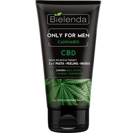 Bielenda ONLY FOR MEN Cannabis, PASTA do mycia twarzy 3w1, 150 g