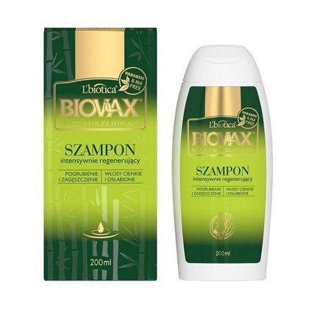 Biovax - SZAMPON intensywnie regenerująca do włosów Bambus &Avocado, 200 ml.