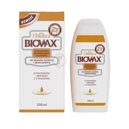 Biovax - SZAMPON intensywnie regenerująca do włosów suchych i zniszczonych. 200 ml.