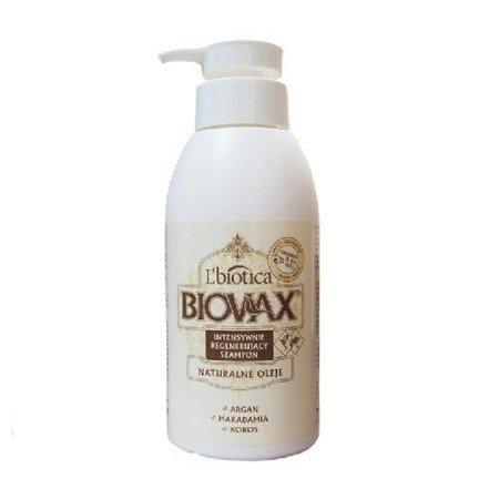 Biovax - SZAMPON intensywnie regenerująca do wszystkich włosów, zawiera Argan, Kokos, i Makadamia, 400 ml.