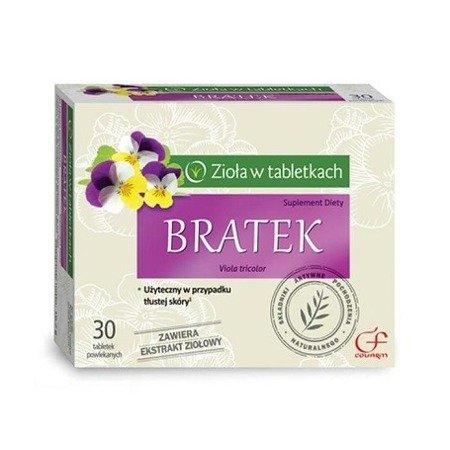 Bratek - Wyciąg z Fiołka trójbarwnego, 30 tabletek.(Colfarm)