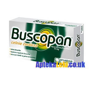 Buscopan 10 mg. 20 tabletek.