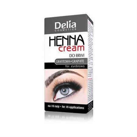 Delia - HENNA cream do brwi - GRAFITOWA, 15+15 ml.