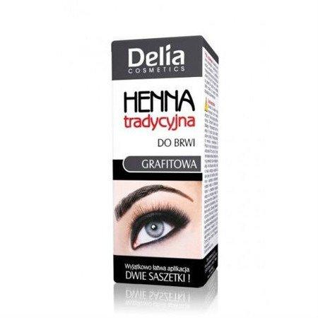 Delia - HENNA tradycyjna do brwi GRAFITOWA, 2 ml. + 2 g.