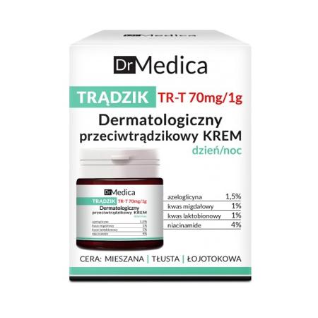 Dr Medica - TRĄDZIK - Dermatologiczny przeciwtrądzikowy KREM dzień/noc, 50 ml. Bielenda