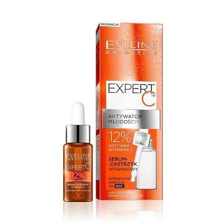 Eveline Expert C, SERUM-Zastrzyk witaminowy na noc, 18 ml.