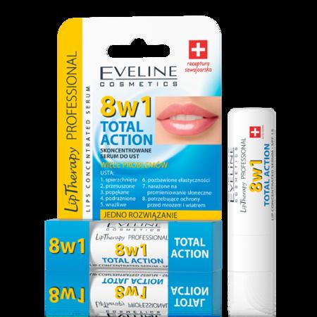 Eveline – LipTherapy PROFESSIONAL – SERUM/POMADKA skoncentrowane do ust 8w1,