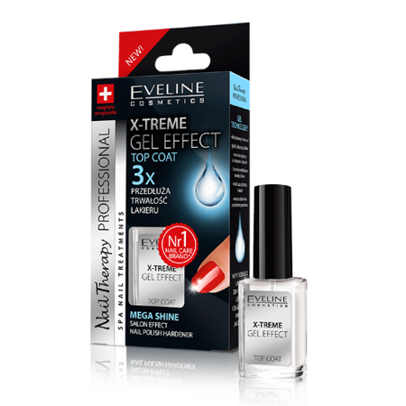 Eveline Nail Therapy Professional - X-TREME Gel effect, płynne szkło, 12 ml.