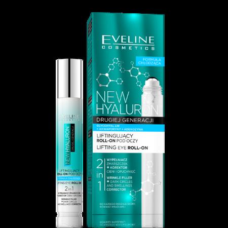 Eveline New Hyaluron 4D - liftingujący roll-on pod oczy, 15 ml.