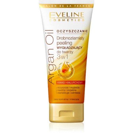 Eveline Oczyszczanie Argan Oil 3w1 - drobnoziarnisty peeling wygładzający, 60 ml.