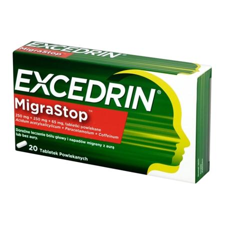 Excedrin MigraSTOP, 20 tabletek.
