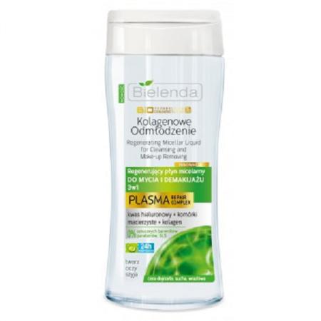 Kolagenowe Odmłodzenie 40+ - PŁYN micelarny regenerujący do mycia i demakijażu 3w1, 200 ml.
