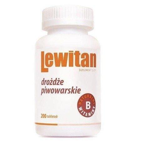 Lewitan - Drożdże piwowarskie, 200 tabletek.