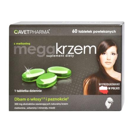 Mega Krzem z Metioniną, 60 tabletek.