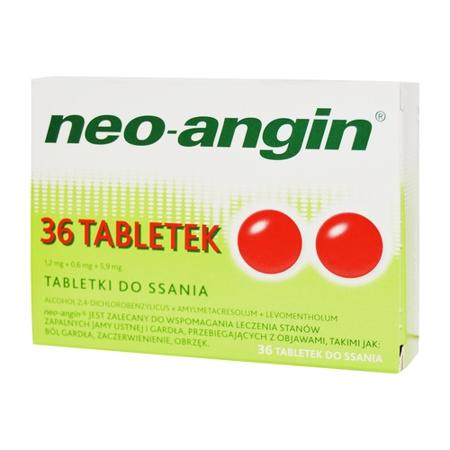 Neo-Angin - PASTYLKI do ssania, 36 pastylek.