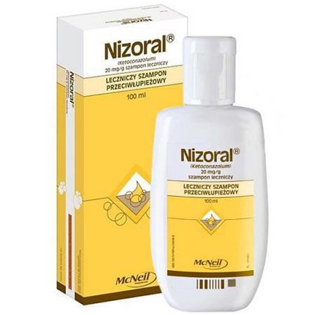 Nizoral - SZAMPON leczniczy, przeciwłupieżowy, 100 ml.