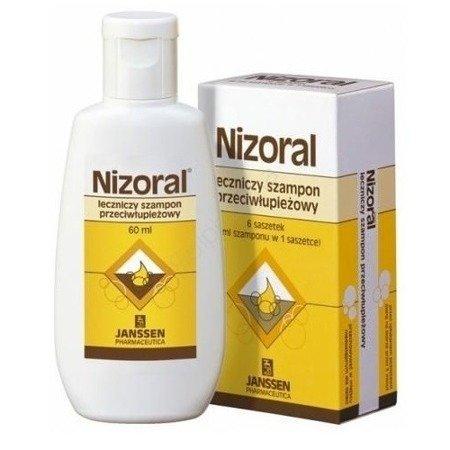 Nizoral - SZAMPON leczniczy, przeciwłupieżowy, 60 ml.