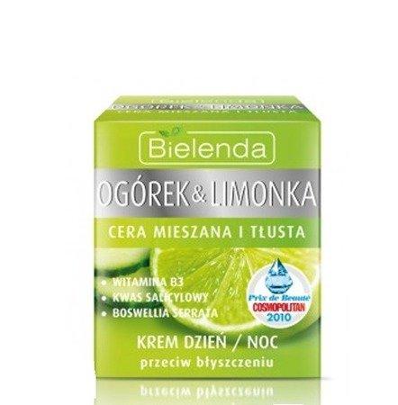 Ogórek&Limonka - KREM przeciw błyszczeniu na dzień i noc do cery mieszanej i tłustej, 50 ml.