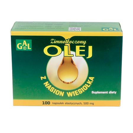 Olej z nasion wiesiołka - tłoczony na zimno, 100 kapsułek.(Gal)