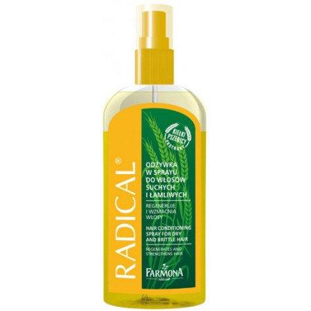 Radical - ODŻYWKA/MGIEŁKA do włosów suchych i łamliwych, regeneruje i wzmacnia włosy, 200 ml.