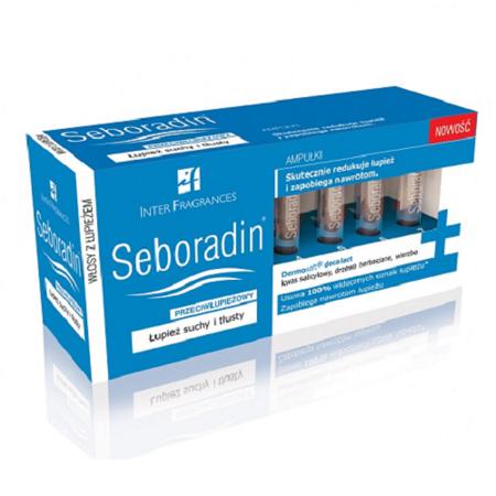 Seboradin - Przeciwłupieżowy - AMPUŁKI, 14 sztuk.