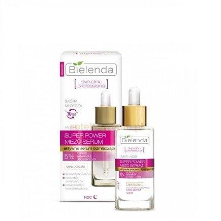 Skin Clinic Professional - SERUM odmładzające do skóry dojrzałe na NOC, 30 ml.